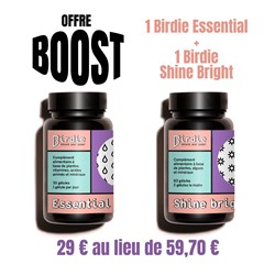 Offre Boost : Birdie Shine bright + Essential