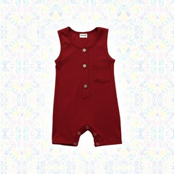 Combi short Ibou - Rouge